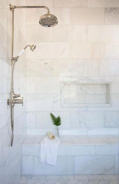 From white marble to black sliced pebble stones and beyond, discover the top best bathroom shower tile design ideas photos. - Outstanding Bathroom Shower Tile Ideas (Worth-Trying Inspiration) Bad Inspiration, Bathroom Inspiration, Bathroom Ideas, Bathroom Organization, Bathroom Storage, Budget Bathroom, Rental Bathroom, Bath Ideas, Bathroom Hacks