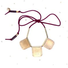 Tribal Brass Statement Necklace | soft gold studio #shopsqsp #handmade #jewelry