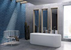 FLAMINIA - OVAL, vana charakteristická tenkými stěnami a spojením hranatých a oblých forem. Design: Giulio Cappellini