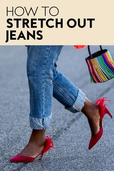 Whether you're looking for more room in the leg, the waist, or the foot hole, you might want to try these 10 easy tricks. #fashion #jeans
