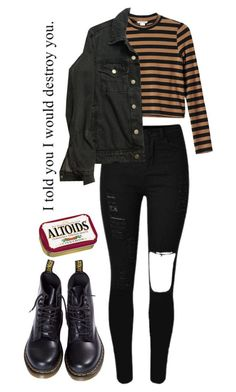 """Trickery"" by thishazyheadofmine ❤ liked on Polyvore featuring Monki, American Apparel and Dr. Martens"