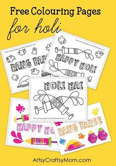 15 Holi Crafts and Activities for Kids #MulticulturalArtsandCrafts