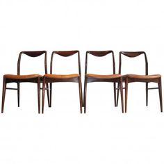 Kai Lyngfeldt Larsen a Set of Four Rosewood Chairs