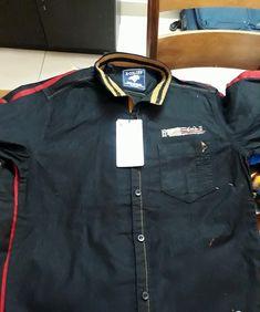 Men's Casual Shirt with Detailing Casual Shirts For Men, Men Casual, Denim Button Up, Button Up Shirts, Men Dress Up, Mens Designer Shirts, Boys Shirts, Men Fashion, Dj