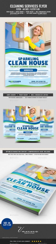 Cleaning Services Flyer Template PSD