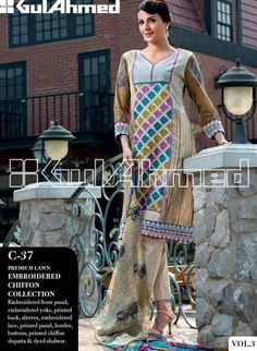 Gul Ahmed Fall Winter Dresses Collection 2013 For Girls0