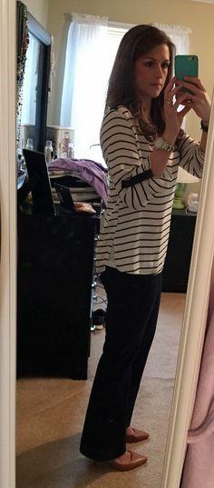 I kept it and I love it!  April Fix - Fun 2 Fun Sheridan Striped V-Neck Tab Sleeve Blouse