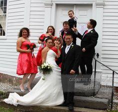 Having fun on the Wedding Day