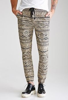 Tribal Print Joggers | 21 MEN - 2000118010
