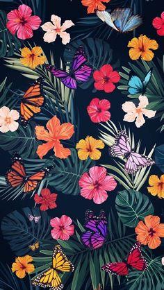 Flower Phone Wallpaper, Butterfly Wallpaper, Cellphone Wallpaper, Iphone Wallpaper, Tumblr Wallpaper, Nature Wallpaper, Cool Wallpaper, Aline Rosa, Pink Drawing