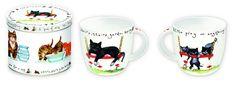 Porcelanowy kubek w blaszanym pudełku Mugs, Tableware, Gifts, Design, Porcelain Ceramics, Dinnerware, Presents, Tumblers, Dishes