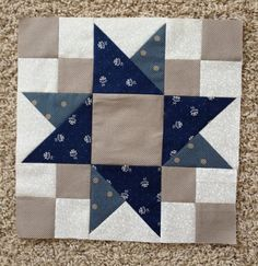 APPLE PIE IN THE SKY QUILT ALONG BLOCK 10. Many different color schemes shown, and a tutorial for each block.