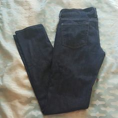 Blue jeans Amzing pair of jeans, dark blue wash not skinny but has a narrow sort of straight leg, in excellent condition,  no rips or stains , nice detail on the back pockets,  from 7 for all ManKind 7 for all Mankind Jeans Straight Leg
