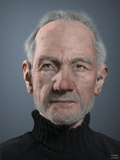Old man Portrait #3D #Characters #Design