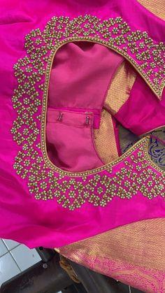 New bridal lehenga choli gold blouse designs 35 Ideas Simple Blouse Designs, Blouse Designs Silk, Designer Blouse Patterns, Simple Designs, Designer Dresses, Wedding Saree Blouse Designs, Wedding Blouses, Wedding Dresses, Maggam Work Designs