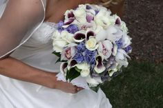 Wedding Bouquets Purple And White