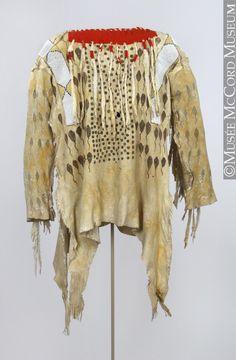 War shirt (Blackfoot), ca. Native American Shirts, Native American Regalia, Native American Crafts, Native American Artifacts, Native American Beadwork, American Indians, American Apparel, Blackfoot Indian, Native Indian