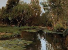 """Cyrus Afsary  Lakeside Wandering  Medium: Oil  Size: 18"""" x 24"""""""