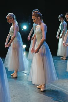 "PBT's Caitlin Peabody (right) in George Balanchine's ""Serenade"" (photo by Aimee DiAndrea)"