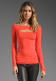 BAILEY 44 Thin Lizzy Top in Persimmon