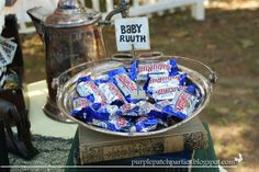 """It wouldn't be a """"Goonies"""" movie party without some BabyRuths to snack on.  - Theme your next family movie night with this tip from Southern Outdoor Cinema"""