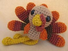Crochet Pattern: Trevor Turkey Amigurumi Crochet Pattern