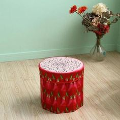 baby toys Fruit Pattern storage box small seat box toy Organizer clothes Folding for kids between 4 to 14 years Storage Stool, Toy Storage Boxes, Toy Boxes, Storage Baskets, Wooden Bedroom, Table Lamps For Bedroom, Fruit Pattern, Toy Organization, Kids Toys