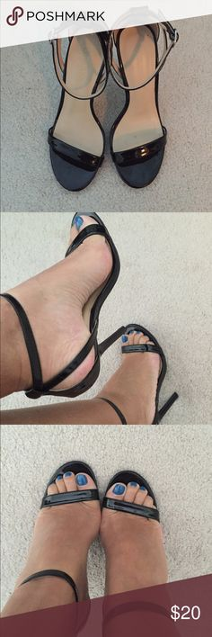 Sexy Strappy Heels Black strappy heels worn once. In excellent condition. Wild Diva Shoes Heels
