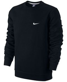 Nike Men's Classic Fleece Crew Pullover - Hoodies & Sweatshirts - Men…