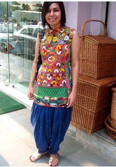 Kachhiwork kurti... All handwork :)