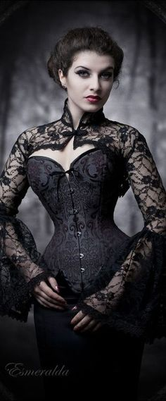 ...and she looked at  him with delightfully wicked intent... #gothic #women #beauty