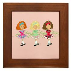 """3 Reel Princesses Framed Tile by CafePress by CafePress. $15.00. Rounded edges. Quality construction frame constructed of stained Cherrywood. 100% satisfaction guarantee return policy. Two holes for wall mounting. Frame measures 6"""" X 6"""" x 0.5"""" with 4.25"""" X 4.25"""" tile. 3 Reel Princesses"""