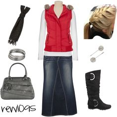 "Oh my gosh! Love everything! I would wear this outfit every day! : ) ""Red *"" by rew1095 on Polyvore"