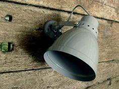 Grey wall light from Tinsmiths Ledbury