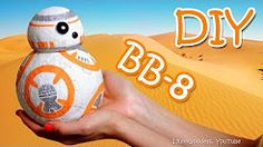 Easy tutorial of droid made of paper napkins and school glue. Star Wars super star – cute - is now can be made with your own hands without any speci. Valentine Day Boxes, Valentines For Boys, Valentine Ideas, Paper Mache Diy, Diy Paper, Diy Gumball Machine, Diy Crafts For Adults, Bb8, Do It Yourself Crafts