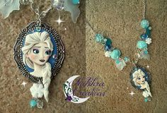 Elsa cameo polymer clay by Nakihra Fimo Creations, via Flickr