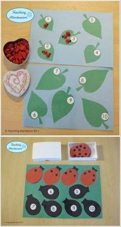 Spring and Summer Bug Themed Math Preschool Lesson Plan