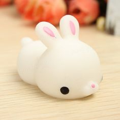 Mochi Bunny Rabbit Squishy Squeeze Cute Healing Toy Kawaii Collection Stress Reliever Gift Decor Sale - Banggood.com
