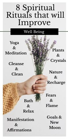 8 Spiritual Rituals that will Improve Well Being – Creating spiritual rituals can help improve your overall well being and wellness. Try some of these simple rituals for yourself. Spiritual Wellness, Spiritual Awareness, Spiritual Health, Spiritual Practices, Spiritual Life, Spiritual Growth, Spiritual Awakening, Mental Health, Wicca