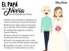 Pedida de Mano: el rol de los Papás   #MásQ1Boda #pedida #protocolo #boda Wedding Songs, Wedding Advice, Wedding Themes, Boho Wedding, Dream Wedding, Wedding Day, Budget Wedding, Wedding Planning, Wedding Planer