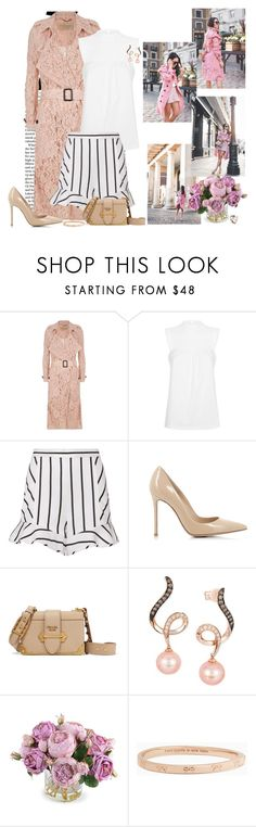 """""""Spring"""" by nikol128 ❤ liked on Polyvore featuring Burberry, Intermix, Gianvito Rossi, Prada, LE VIAN, New Growth Designs, Kate Spade and Alexis Bittar"""