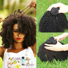 Mongolian Afro Kinky Curly Hair Extensions Haircuts For Curly Hair, Kinky Curly Hair, Curly Hair Cuts, Curly Hair Styles, Short Haircuts, Curly Human Hair Extensions, Hair Extensions For Sale, Make Up Tools, Brazilian Curly Hair