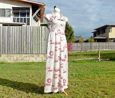 Glamorous 70s Maxi Dress Size M Silver Lurex by VintageSquirrels, $69.95 #maxidress#vintage#vintagemaxidress#lurex#vintagefashion#silver#retro #bohomaxidress #70sfashion #1970s #vintagesquirrels