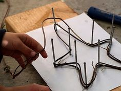 Vine stars -- or make with wire