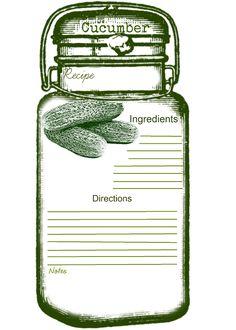 Free-printable Recipe card