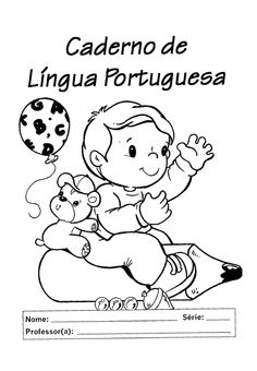 capa de caderno de língua portuguesa