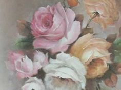 China Painting Tutorial - American Beauty Roses & Forget-Me-Nots - Barbara Duncan - YouTube