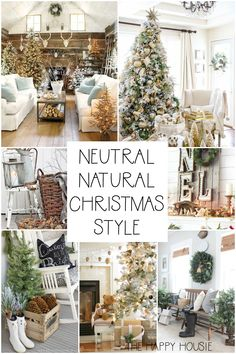 Rustic Natural & Neutral Christmas Style Series shares beautiful decor, DIYS, inspiration and ideas for creating a cozy neutral Christmas style. Diy Christmas Decorations For Home, Farmhouse Christmas Decor, Country Christmas, Cottage Christmas Decorating, Rustic Christmas Crafts, Scandinavian Christmas Decorations, Decoration Crafts, Burlap Christmas, Primitive Christmas