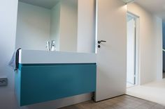Turquoise Gesto bathroom furniture from Antoniolupi