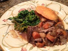 Beef stew with carrots and parsnips, kale, and sweet potato: 10/8/12